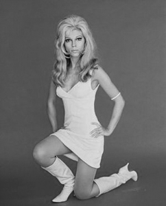 With the boots ON, she walked on to  the top of the charts...