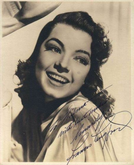 An autographed photo from the 1940's of (a dark haired) Frances Langford