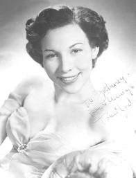 A publicity photo of the young Toni Arden at the start of her career