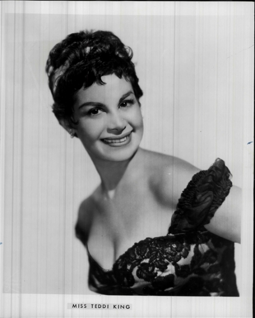 A publicity photo of Teddi King from around 1960