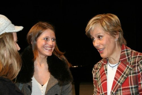 """Our """"rising star"""" meets up with one of the greatest: an informal chat with Kiri Te Kanawa (Photo: from Gunda's private collection)"""