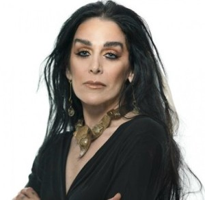 "A photo of the ""private"" Diamanda Galas, looking relaxed and just plain gorgeous!"