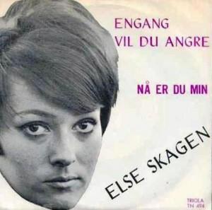 """En av Else's singler; denne er fra 1968 og sørget for at hun også opptrådte i """"Popkorn"""" på norsk TV"""