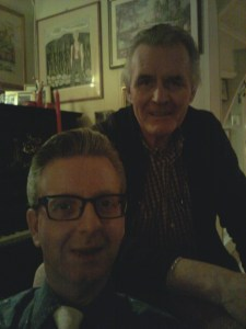 Jan and myself at home during Christmas 2013: Still together after 20 years!