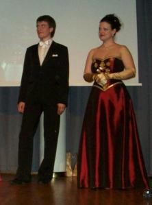 Leonid Larionov og Maria Bordas etter en konsert i 2011