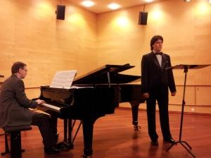 Per Arne Frantzen og Leonid under konserten 15. januar 2014