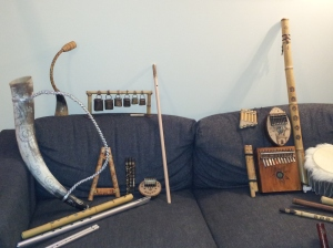 Et utvalg av instrumenter bygget av Leonid selv...