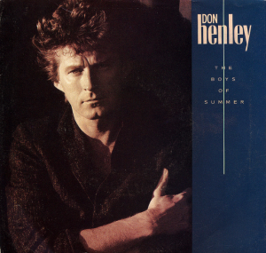 "Dressed in a woolen tweed jacket, and looking rather glum - I guess Don Henley must be really sorry that ""The Boys of Summer"" have gone..."