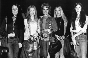 Singer & mum: Teresa in 1973 with her four daughters Mega, Susan, Kathleen and Michelle. Obviously, beauty runs in the family...