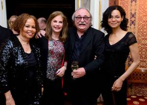 Rhonda, Penny and Ramona with Sylvester Levay. Photo taken 2015