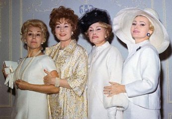 The glamourous Gabors: Eva, Magda, mother Jolie and Zsa Zsa